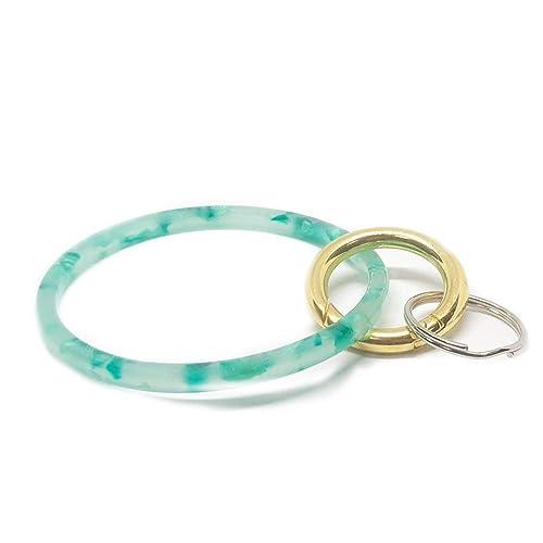 cf69c15d69f24 Zhaoyun Bracelet Key Ring Chain,Bangle O Key Ring Wristlet Keychain  Bracelet Bangle Keyring