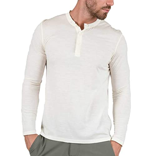 8145f5e0c3a4 Magiftbox Men's Casual Slim Fit Convoy Henley Long Sleeve T-Shirts Cotton  Henley Shirts T16
