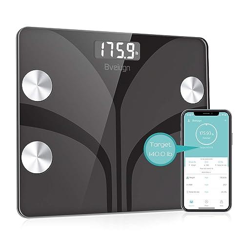 Buy Body Fat Scale, Bveiugn Smart Wireless Digital Bathroom