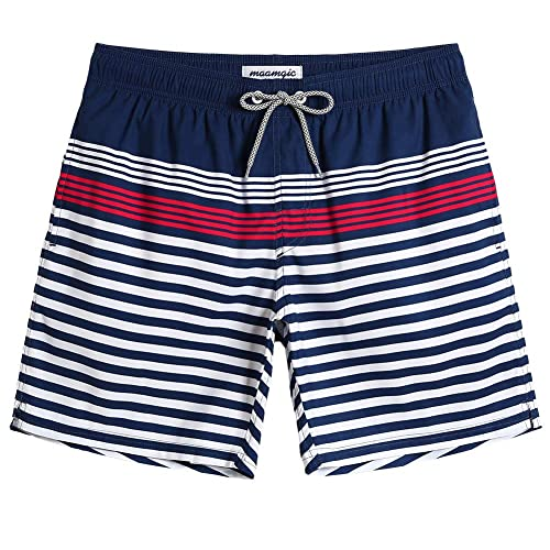 37bc1b2a97 Buy MaaMgic Mens Quick Dry Printed Short Swim Trunks with Mesh ...