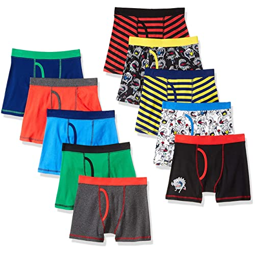 1c3979df98cfe Buy Amazon Brand - Spotted Zebra Boys' 10-Pack Boxer Brief Underwear ...